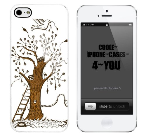 Iphone 5 / 5S Schutzhülle Cassette Tree - weisser Rahmen