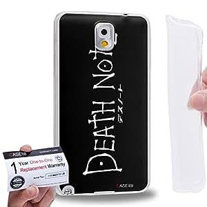 Case88 [Samsung Galaxy Note 3] Gel TPU Carcasa/Funda & Tarjeta de garantía - Death Note 1222