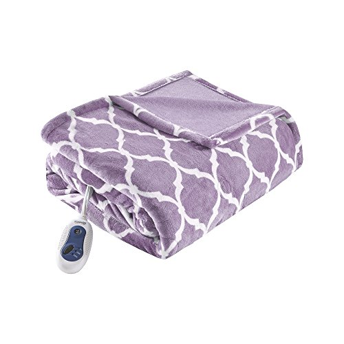 Beautyrest Plush Heated Throw Blanket – Secure Comfort Technology – Oversized 60