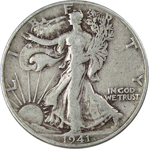 1941-D 50c Liberty Walking Silver Half Dollar VG Very Good