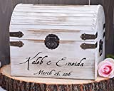 White Distressed Rustic Wooden Card Box WITH CARD SLOT INCLUDED - Rustic Wedding Card Box - Shabby Chic Wedding Card Box - Wedding Card Holder - Keepsake Box