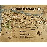 Posters: Way Of St. James Poster Art Print - El Camino De Santiago Anno 1445, Jon Mellenthin (20 x 16 inches)