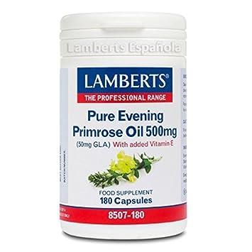 Lamberts - Aceite de Onagra Puro - 180 Cápsulas: Amazon.es: Salud ...