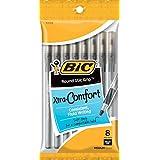 BIC Round Stic Grip Xtra Comfort Ball Pen, Medium (1.2 mm), Black, 8-Count (96 Pens)