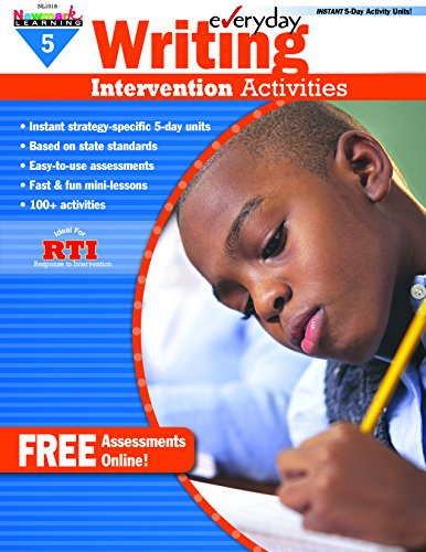 - Everyday Intervention Activities for Writing Grade 5 Book (Eia)