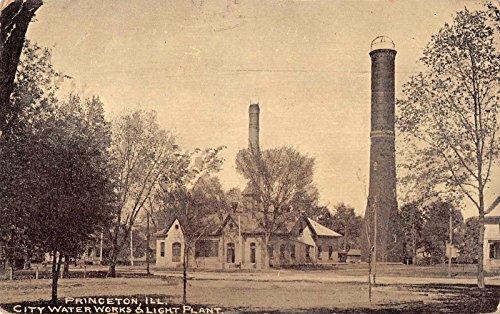 - Princeton Illinois City Water Works Light Plant Antique Postcard J33584