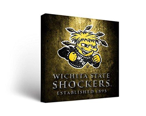 (Victory Tailgate Wichita State University Shockers Broncos Wall Art Museum Design (24x24))