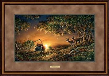 sunset harvest by terry redlin elite framed print open edition