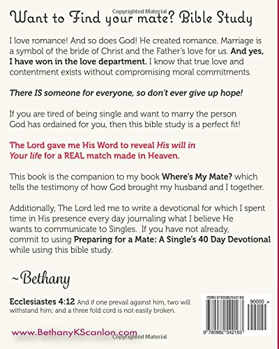 Want To Find Your Mate Bible Study Bethany K Scanlon