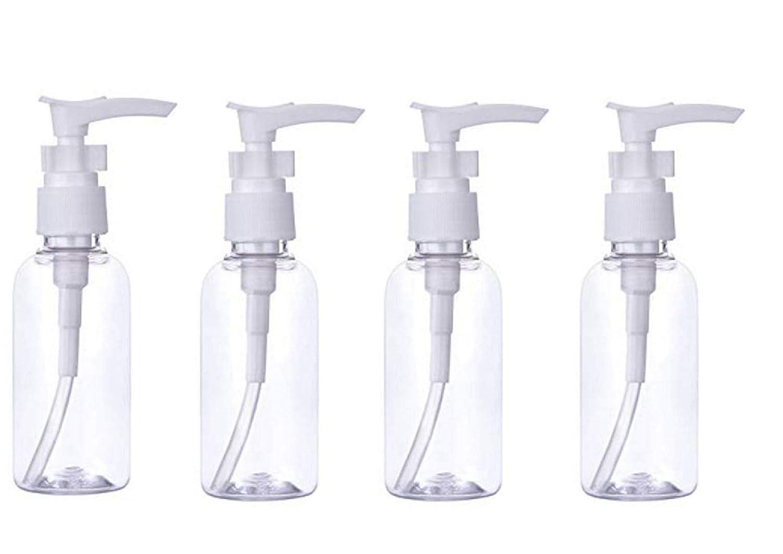 4 unidades de dispensador de loció n transparente de 100 ml de botellas de viaje, botes de tarros para bañ o, base, jabó n de ducha, lí quido, crema, cosmé ticos de viaje botes de tarros para baño jabón de ducha líquido
