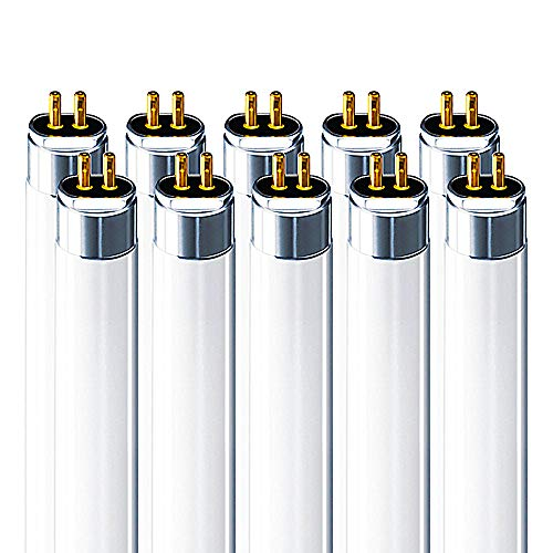 Luxrite F28T5/841 28W 46 Inch T5 Fluorescent Tube Light Bulb, 4100K Cool White, 2470 Lumens, G5 Mini Bi-Pin Base, LR20800, 10-Pack ()