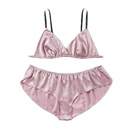 888dd9196de1 Nacome_Lingerie Bodysuit Sex Set Sexy Plus Size Satin Plain Lingerie Set  Solid Color Pajamas Sleepwear 1XL Pink: Amazon.in: Home & Kitchen
