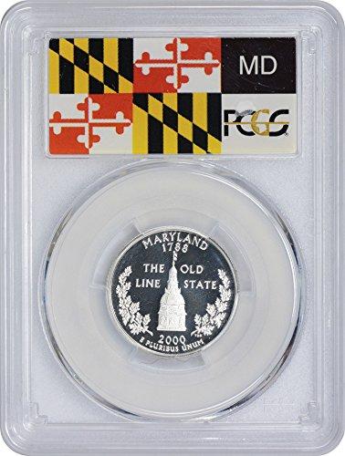 - 2000 S Maryland State Silver Quarter PR70DCAM PCGS