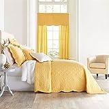 BrylaneHome Florence Bedspread (Aspen Gold,Twin)