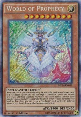 Yu-Gi-Oh! - World of Prophecy (MP14-EN081) - Mega Pack 2014 - 1st Edition - Secret Rare (Oh Yu 1st Cards Gi Edition)