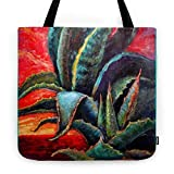 Society6 Southwest-western Style Desert Agave In Sunrise Tote Bag 18'' x 18''