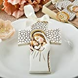 Madonna and Child hanging cross ornament 60PK