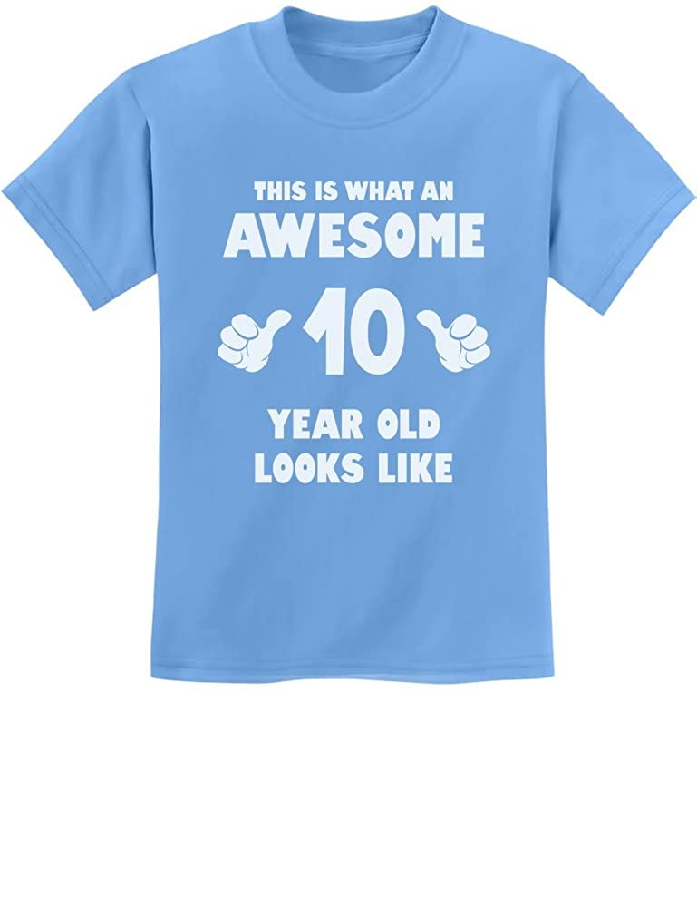 TeeStars - This is What an Awesome 10 Year Old Looks Like Youth Kids T-Shirt GhPhhllgm