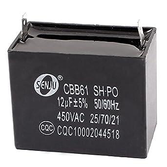 AC 450V CBB61 2 Soldado Terminal rectangular Ventilador de techo capacitor: Amazon.es: Industria, empresas y ciencia