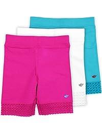 Jada Little Girls Bike Shorts, Tagless, Soft Cotton, Lace...