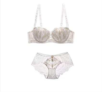 Amazon.com  Women Push Up Underwire Bra and Panty Set Lace Soft Cotton Cup  Lingerie Set  Clothing 5e1951354