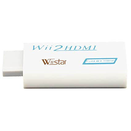 Wiistar Wii To Hdmi Mini Converter Output Video Audio Supports All Wii Display Modes To 720 P/1080 P Hdtv/Monitor by Amazon