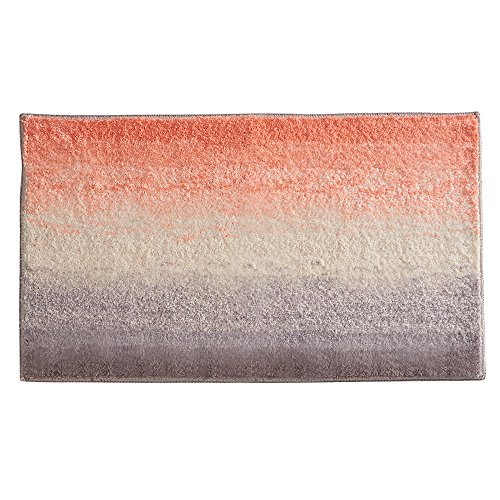 InterDesign Ombre Microfiber Polyester Bath Mat, Non-Slip Shower Accent Rug for Master, Guest, and Kids' Bathroom, Entryway, 34