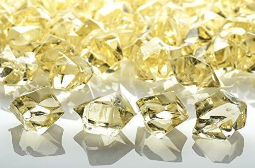 UPC 609613414343, Quasimoon Beige Colored Gemstones Acrylic Crystal Wedding Table Confetti Vase Filler (3/4 lb Bag) by PaperLanternStore