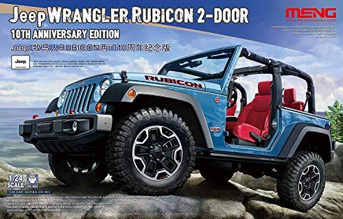 Meng CS003 2 Door Jeep Wrangler Rubicon, 10th Anniversary Edition - 1:24 Scale Plastic Model Kit (Jeep Wrangler Model Kit)