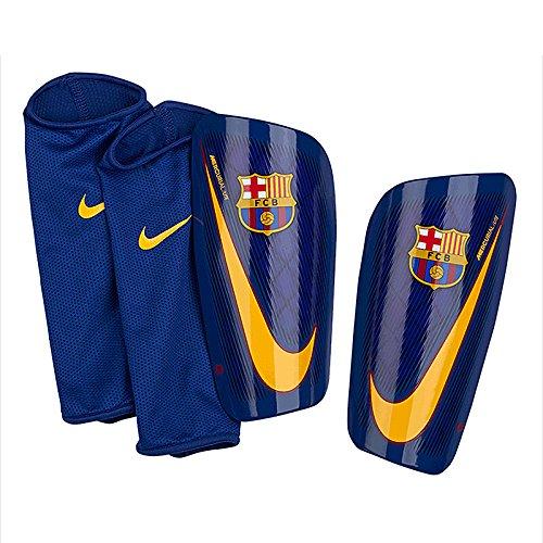 シーサイドクリケット考案する2017-2018 Barcelona Nike Mercurial Lite Shinpads (Red-Blue)