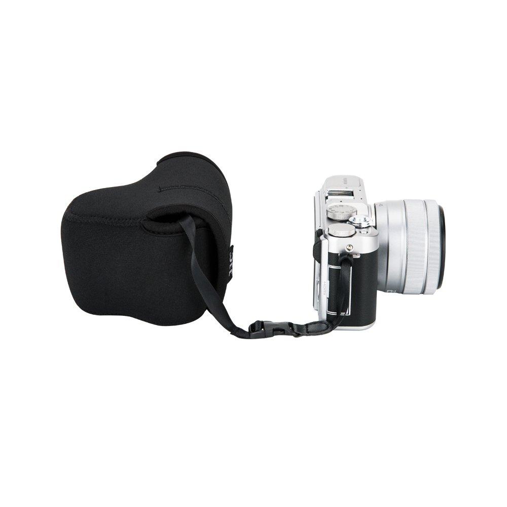 Jjc Ultra Light Neoprene Camera Case Pouch For Fuji Fujifilm X T100 Body Xf35mm F2 Gold Kamera Mirrorless A5 T20 T10 E3 A3 Xc 15 45mm Pz Xf 18mm F20 35mm Lens
