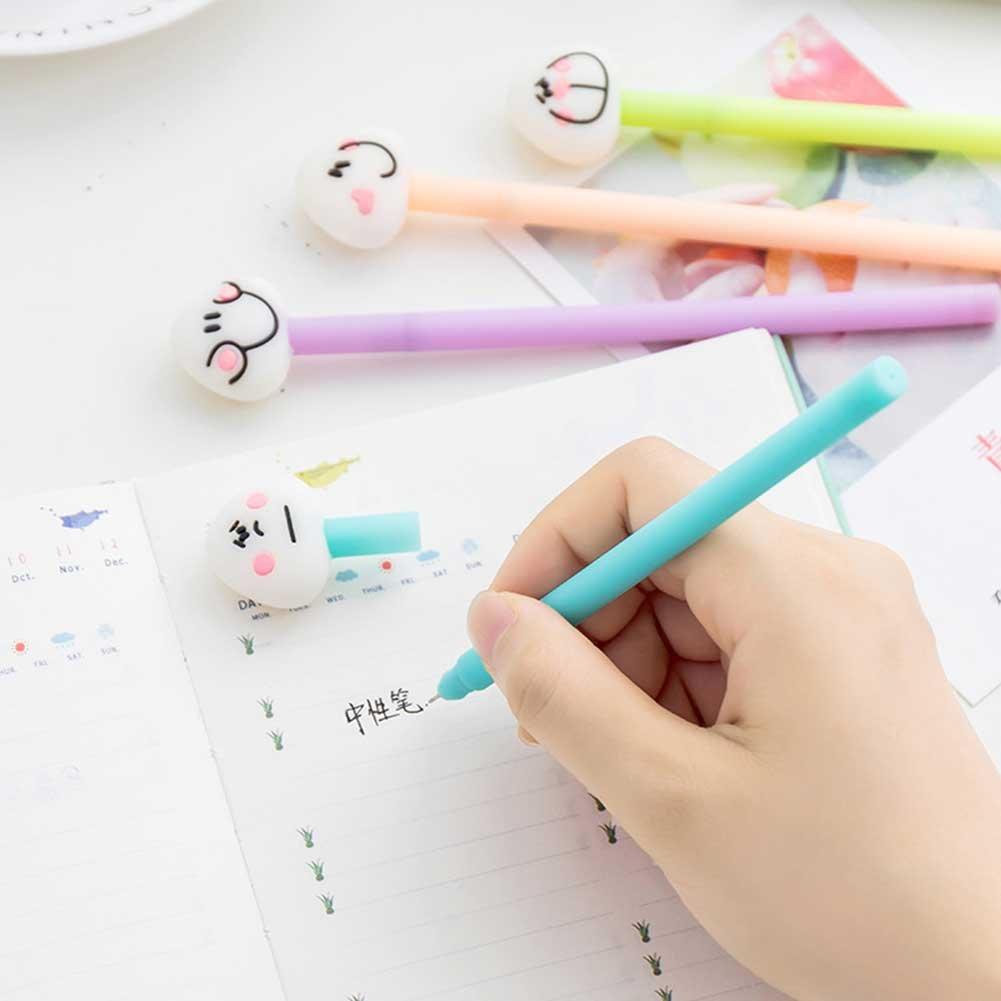 Creative Cute Plüsch Sechs-Farben-Kugelschreiber Bunte Schreiben Bürobedarf NEU.