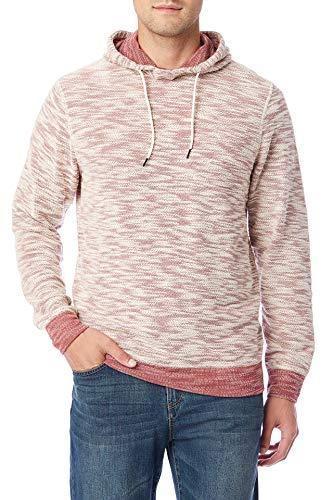 UNIONBAY Men's Long Sleeve French Terry Pullover Hoodie Sweatshirt, Russet, Medium