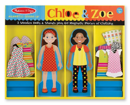 Melissa & Doug Chloe & Zoe - Magnetic Dress Up (Games Starting With S)
