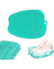 Depurador de pies de ducha,Colchoneta masajeador Limpiador de pies,Almohadilla de lavado de pies con ventosa para suelo de ducha
