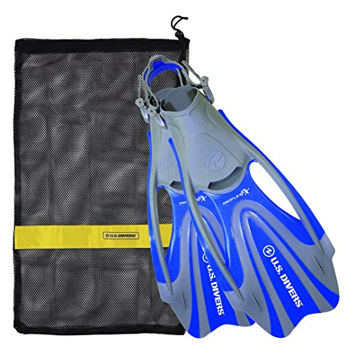 U.S. Divers Proflex FX Fin With Mesh Carrying Bag, Electric Blue, Medium