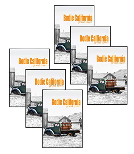 - Golden State Art Set of Six, 13x19 Aluminum Black Photo Frame with Plexi-Glass - Swivel Tabs, Sawtooth Hangers, Spring Clips - Metal Wall Poster Frame Collection (6)