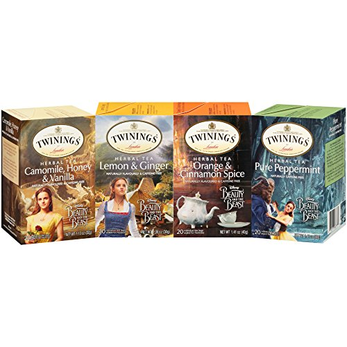 Twinings Tea Bags (Twinings Beauty and the Beast Herbal Tea Bags Variety - 4 Pack)