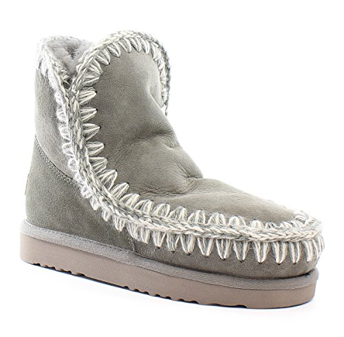 MOU New bota Mou para 18 Grey Eskimo New mujer Grey BwrnqBAv4T
