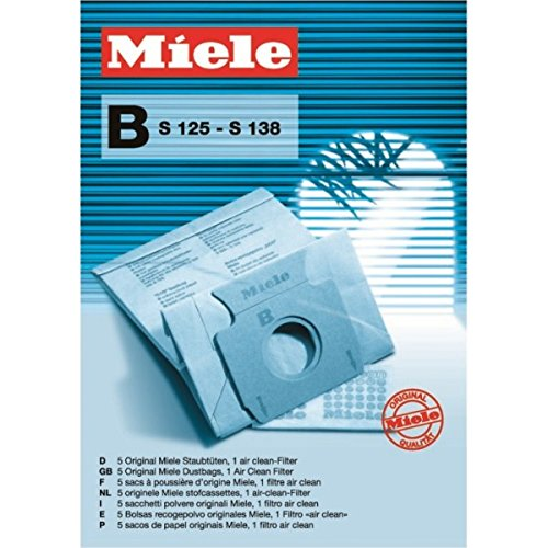 Miele Type B Paper Dustbags - S125-S138 (Intensive Filter Clean Bags)