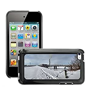 Hot Style Cell Phone PC Hard Case Cover // M00308247 Snowboard City Winter Snow Landscape // Apple ipod Touch 4 4G 4th