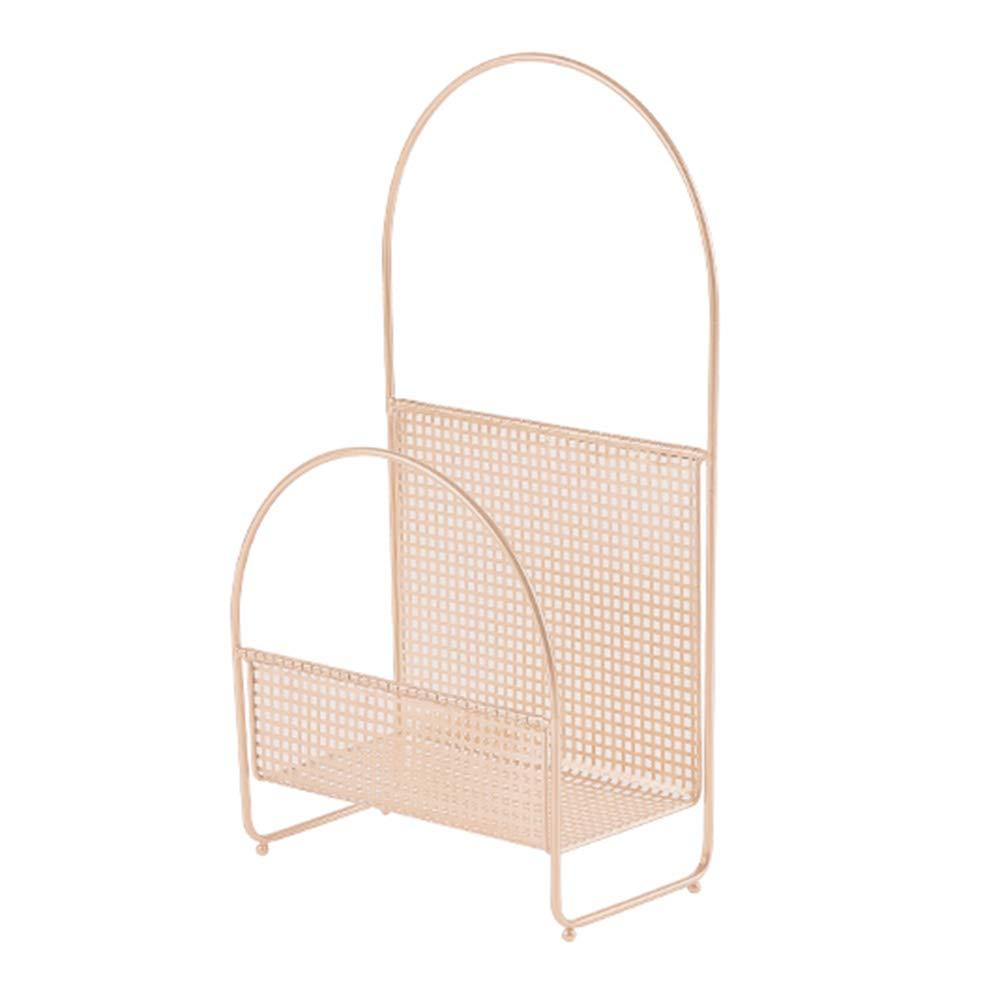 鉄の芸術 床置き本棚 人格 保管ラック 雑誌の棚 寝室、勉強に適しています,Pink,38*20*70cm B07MJ4J4NY Pink 38*20*70cm