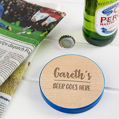 Personalised Wooden Coaster Birthday Gifts For Men 50th Present 21st Presents