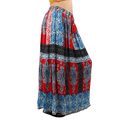 V-CAV Women's Premium Cotton Skirt Indian Traditional (Free Size Waist Upto 38)