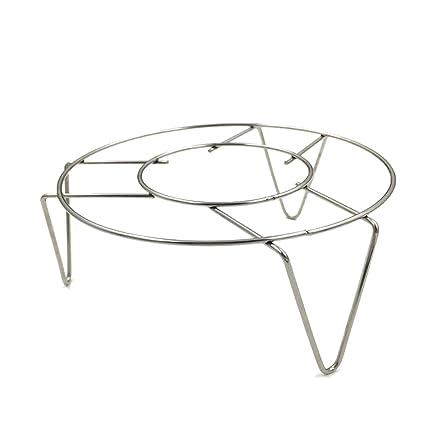 Creativo de acero inoxidable de una casa de utensilios de cocina Round Steamer Rack Stand (Estilo 2): Amazon.es: Hogar