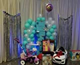 Elecrainbow 12 inches White Balloons, 100