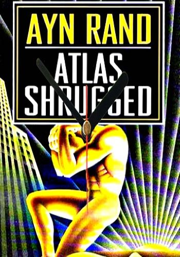Atlas Shrugged Ayn Rand Book Cover Wall Clock 20x15cm