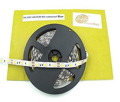 LED Strip Lights, SuperonlineMall™ 16.4FT 5M SMD 5050 300LEDs Flash Strip Light ,Ribbon LED Lighting Strip, 12V