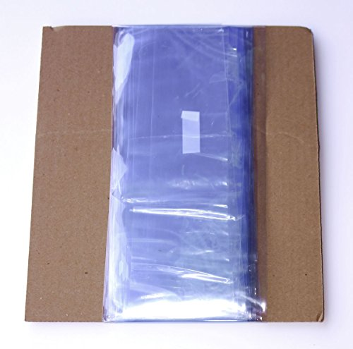 Clear Shrink Wrap Bag Tubing - Flat Tube PVC - Low Heat Shrink Film - 100 Ft, 100 Gauge (4 inch Wide)