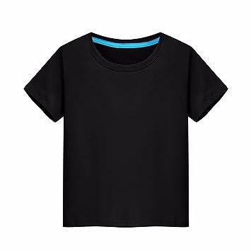 XIAOGEGE El Negro Camiseta Camisetas Personalizadas, Ropa de Media Manga 100% Algodón Camiseta Igual